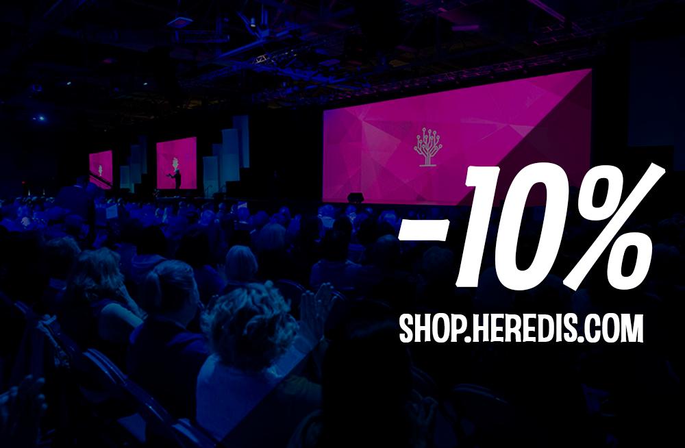 10% off on shop.heredis.com
